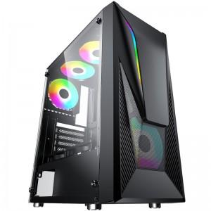 Case ATX Gaming Alantik MASK01 Nero 2 Ventole LED ARGB + Strip ARGB